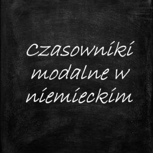 czasowniki modalne w niemieckim