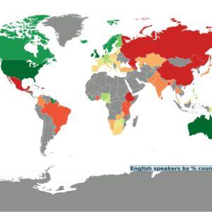 kraje w których mówi się po angielsku