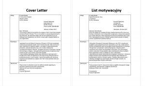 list motywacyjny po angielsku przykład lekarz