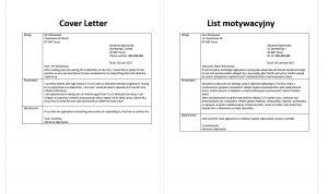 list motywacyjny po angielsku wzór niania
