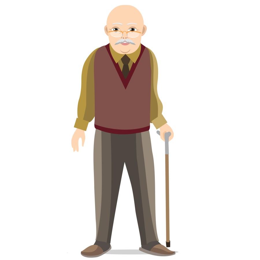opis dziadka po angielsku