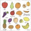 owoce po angielsku