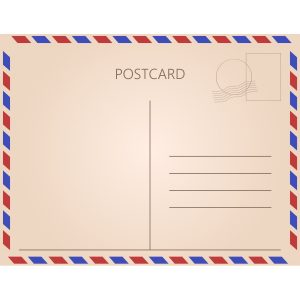 pocztówka po angielsku