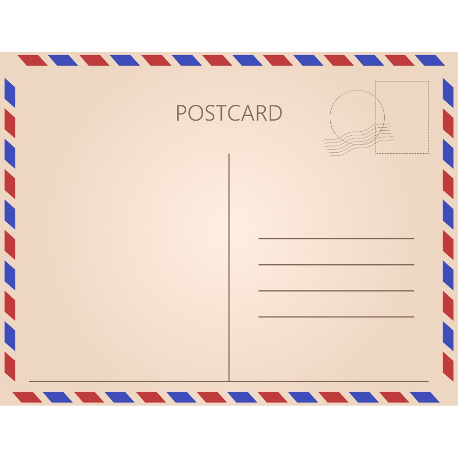 Почтовая открытка фотошопа